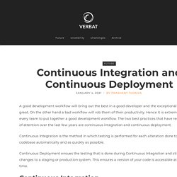 Continuous Integration and Continuous Deployment