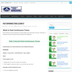 past continuous tense simple negative interrogative class 7 – video tutorial