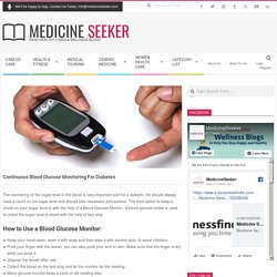 Blood Glucose Monitor, Continuous Glucose Monitoring for Diabetes