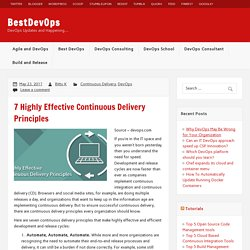 7 Highly Effective Continuous Delivery Principles – BestDevOps