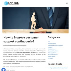 How to improve customer support continuously? Technical support in USA