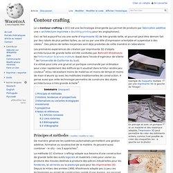 Contour crafting