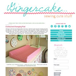 Contoured Changing Pad - Gingercake