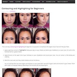 Contouring and Highlighting for Beginners - BEAUTIFUL SHOES