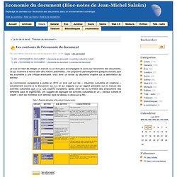 Les contours de l'économie du document