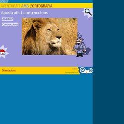 Apòstrofs i contraccions - Aventura't amb l'ortografia- Català - Educació primària_ edu365.cat