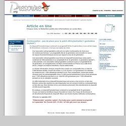 Tous les articles en Une ''Contraception: pas de place pour le patch éthinylestradiol + gestodène (Apleek°)'', 1er septembre 2015