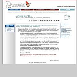 Tous les articles en Une ''Contraception orale d'urgence: ulipristal disponible sans ordonnance, mais le lévonorgestrel reste la référence'', 1er juillet 2015