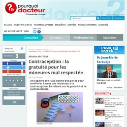 Probleme de contraception : Manque d'education sexuelle ?