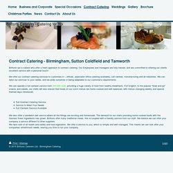 Contract Catering @ Brittons Caterers - Quality Catering in Birmingham and the West Midlands