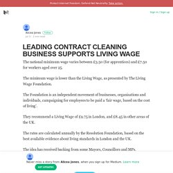 Leading Contract Cleaning Business Supports LivingWage
