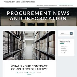What's your contract compliance strategy? - Compliance Audit