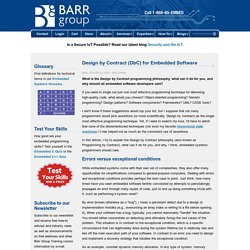 Design by Contract (DbC) for Embedded Software