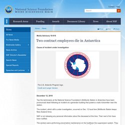 Two contract employees die in Antarctica