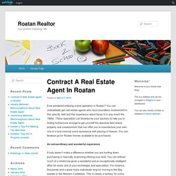 Contract A Real Estate Agent In Roatan