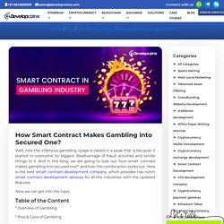 Smart Contract in Gambling Industry