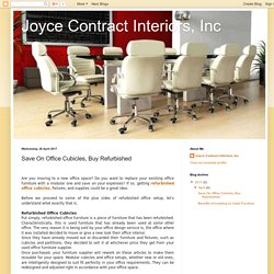 Joyce Contract Interiors, Inc: Save On Office Cubicles, Buy Refurbished