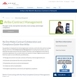 Contract Management Software - Fast, Easy, Compliant