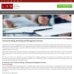 Contract Review & Management Services