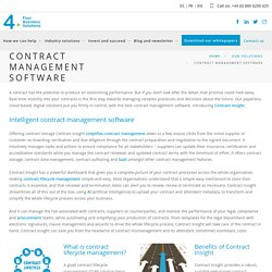 Contract management software - Four Business