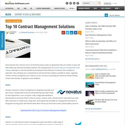 Top 10 Contract Management Solutions
