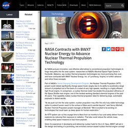 New NASA Contract Will Advance Nuclear Thermal Propulsion Technology