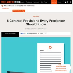 8 Contract Provisions Every Freelancer Should Know