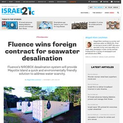 Fluence wins foreign contract for seawater desalination