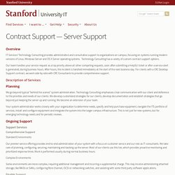 Contract Support — Server Support