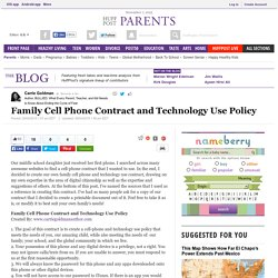 Family Technology Policy Examples