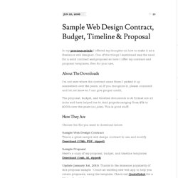 Sample Web Design Contract, Budget, Timeline & Proposal - Nerdburn - Web application & graphic user interface design blog by Shawn Adrian