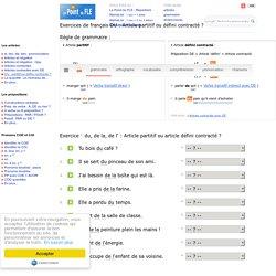 DU : Article partitif ou contracté ? - Cours de français - Grammaire française