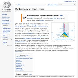 Contraction and Convergence