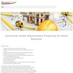 Contractor Home Improvement Financing - VIP Financing Solutions