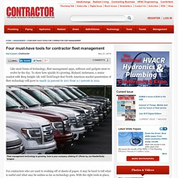 Four must-have tools for contractor fleet management