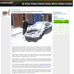 Find a Snow-Removal Contractor before Winter Sets in Oakville