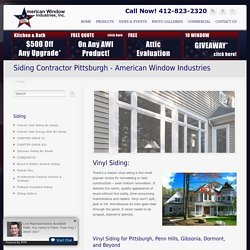 Siding Contractor Pittsburg