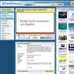 Design build contractor Los Angeles