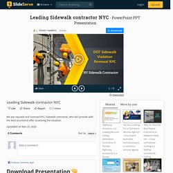 Leading Sidewalk contractor NYC PowerPoint Presentation, free download - ID:9848316