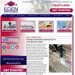 Power Washing Contractor in the Bronx Area