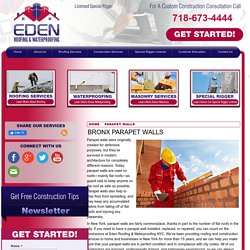 Parapet Wall Contractor in the Bronx Area