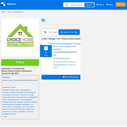 Choice Home Contractors's Bookmarks (User chcontractors)