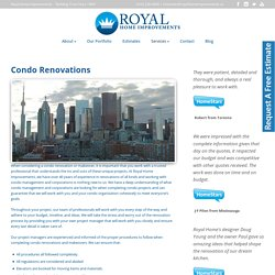 Condo Renovation Contractors in Toronto - Royal Home Improvements