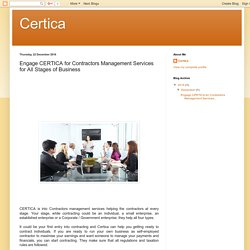 Certica : Engage CERTICA for Contractors Management Services for All Stages of Business