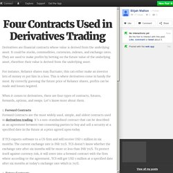 Four Contracts Used in Derivatives Trading