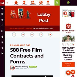 588 Free Film Contracts and Forms