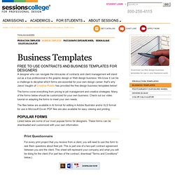 Free Design Business Contracts and Templates – Sessions College for Professional Design