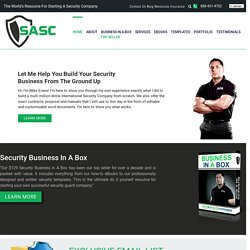 Start a Security Company >> License, Contracts, Proposals, Insurance
