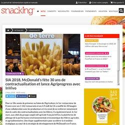 SIA 2018, McDonald's fête 30 ans de contractualisation et lance Agriprogress avec InVivo