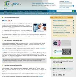 Les clauses contractuelles - Sécuriser ses créances